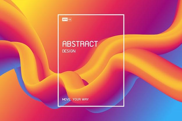 Abstracte vloeiende kleur van de omslag van de vormlijn