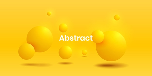 Abstracte vloeiende levendige gradiënt 3d gele cirkel realistische backgorund