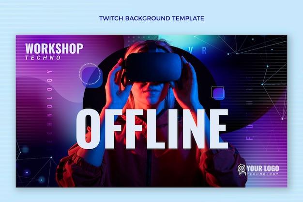 Abstracte vloeiende technologie twitch banner