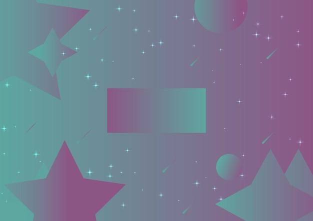 Abstracte vloeiende turkoois, violet gradiënt achtergrond poster
