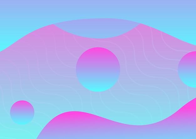 Abstracte vloeiende turquoise, roze achtergrond met kleurovergang poster