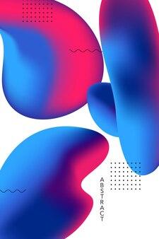 Abstracte vloeiende vormen achtergrond