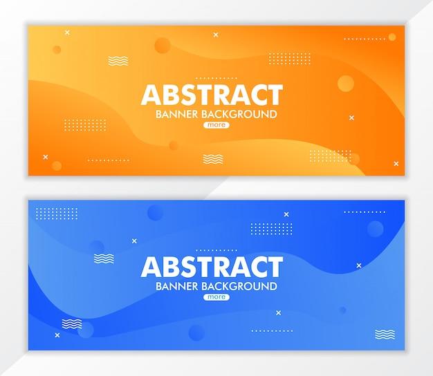Abstracte vloeistof gradiënt banner achtergrond
