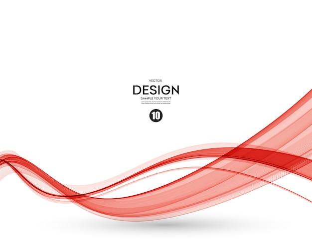 Abstracte vlotte kleurengolfvector. kromme stroom rode beweging illustratie