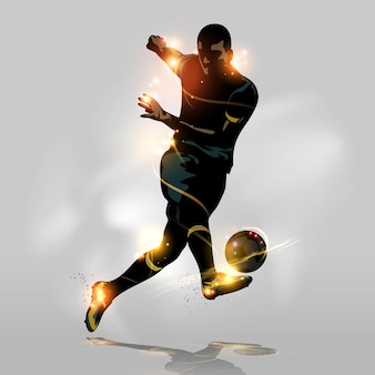 Abstracte voetbal snel schieten