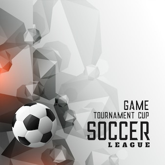 Abstracte voetbaltoernooi league sport achtergrond