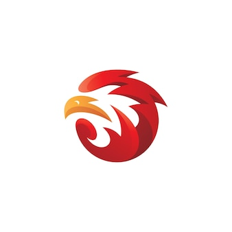 Abstracte vogel eagle hoofd mascotte logo
