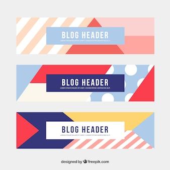 Abstracte vorm banners