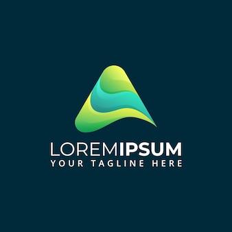 Abstracte vorm letter een logo