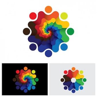 Abstracte vorm logo