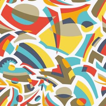 Abstracte vorm naadloze patroon ontwerp
