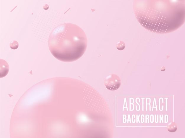Abstracte vorm van vloeistof op roze achtergrond. vloeibaar ontwerp.