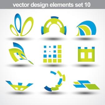 Abstracte vorm vector set 10