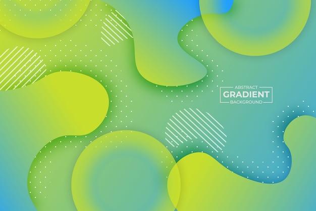 Abstracte vorm verloop achtergrond blauw en geel