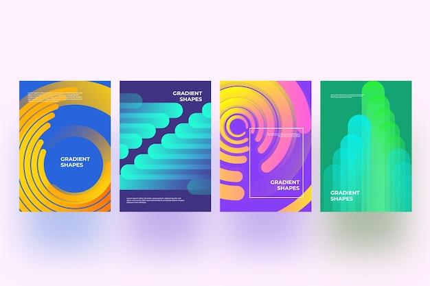 Abstracte vormen dekken collectie thema