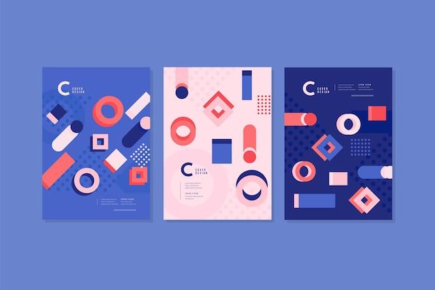 Abstracte vormen dekken collectie