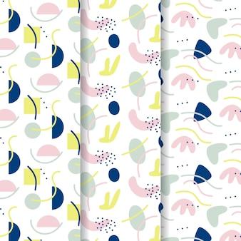 Abstracte vormen hand getekende patroon sjabloon