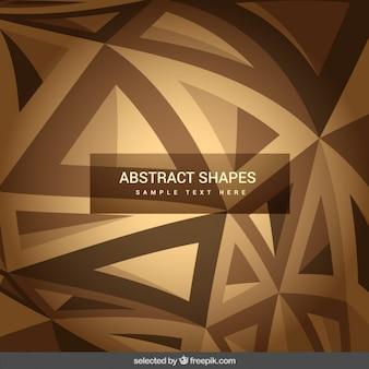 Abstracte vormen in bruine tinten