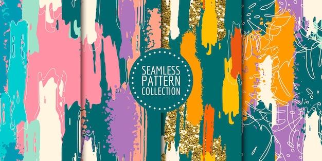 Abstracte vormen naadloze patrooncollectie
