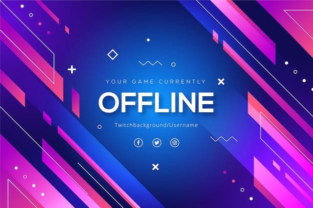 Abstracte vormen offline twitch banner