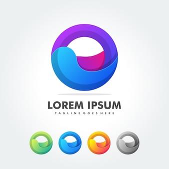 Abstracte vormen voor trendy logo