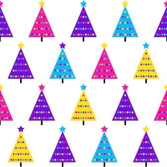 Abstracte vuren bos naadloze patroon achtergrond. modern staal voor nieuwjaarskaart, uitnodiging voor kerstfeest, verjaardagsbehang, inpakpapier voor de feestdagen, stoffenprint, t-shirt, workshopreclame