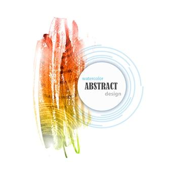 Abstracte waterverf