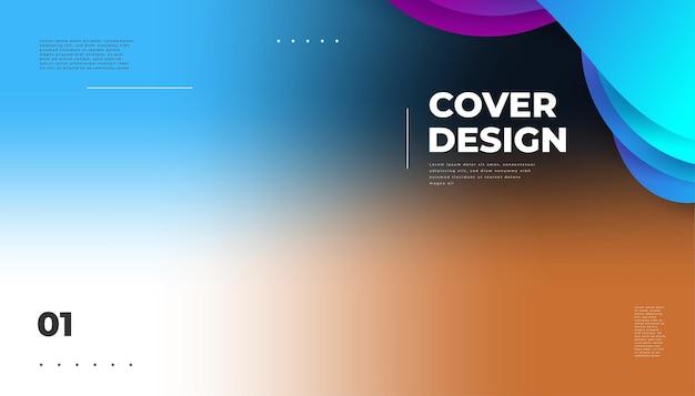 Abstracte wazig kleurrijke achtergrond met kleurovergang. kleurrijke gladde moderne achtergrond, geschikt voor plakkaten, banners, presentaties, omslagen en rapporten