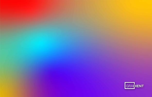 Abstracte wazig verloopnet achtergrond in heldere regenboogkleuren, vectorillustratie.