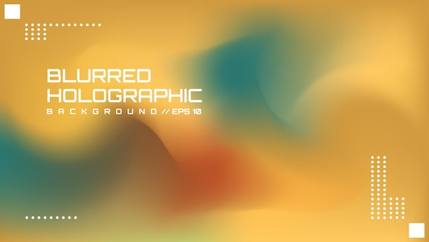Abstracte wazige holografische achtergrond 4
