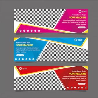 Abstracte web banner sjabloon speciale super korting promotie aanbieding verkoop