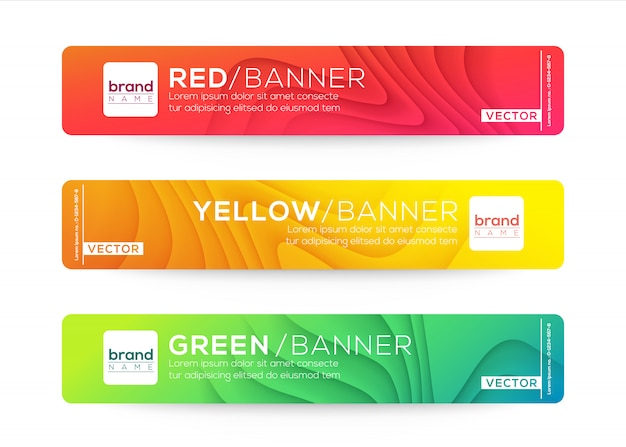 Abstracte webbanner of koptekst ontwerpsjablonen. gebogen golfgradiënt samenstelling met kleurrijke levendige kleuren.