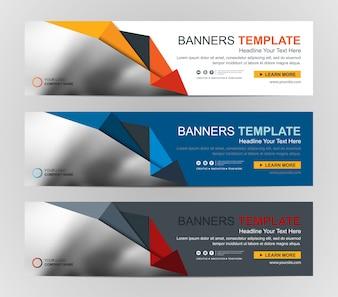 Abstracte webbanner ontwerp achtergrond of koptekst sjablonen