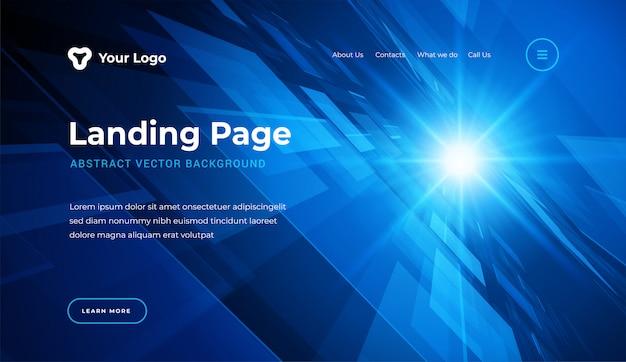 Abstracte website bestemmingspagina sjabloon moderne stijl