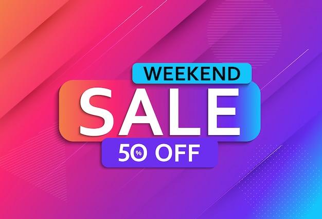 Abstracte weekend verkoop poster
