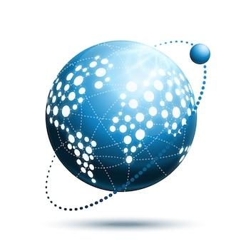 Abstracte wereld pictogram