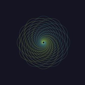 Abstracte werveling zeshoek vortex structuur