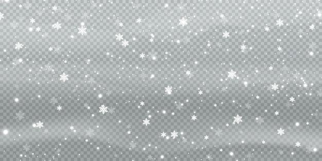 Abstracte winter achtergrond van sneeuwvlokken