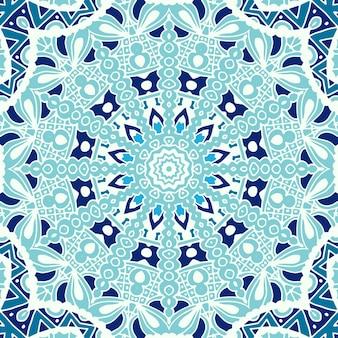 Abstracte winter ijzige achtergrond naadloze vector patroon