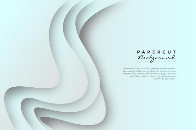 Abstracte witboek gesneden achtergrond