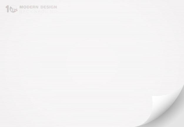 Abstracte witboek met flip decoratie kunstwerk lijn textuur ontwerp achtergrond.