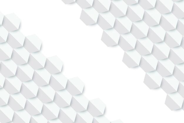 Abstracte witte achtergrond in 3d-papierstijl