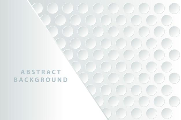 Abstracte witte achtergrond met 3d-cirkels