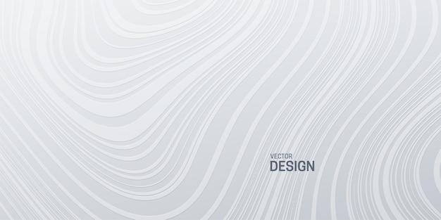 Abstracte witte achtergrond met topografisch golvenpatroon