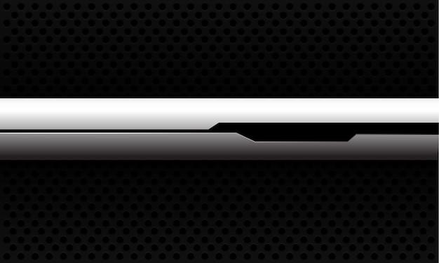 Abstracte witte banner zwarte lijn cyber op zwarte cirkel