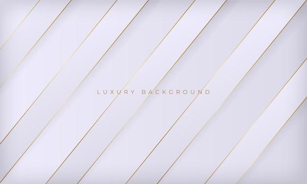 Abstracte witte en gouden lijnen luxe achtergrond