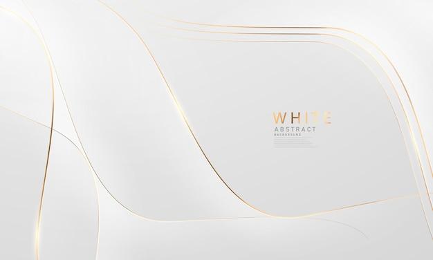 Abstracte witte en grijze achtergrond met prachtige gouden lijndecoratie.