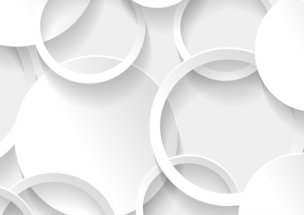 Abstracte witte en grijze cirkel achtergrond textuur, geometrische achtergrond sjabloon