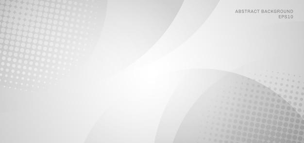 Abstracte witte en grijze cirkelsachtergrond