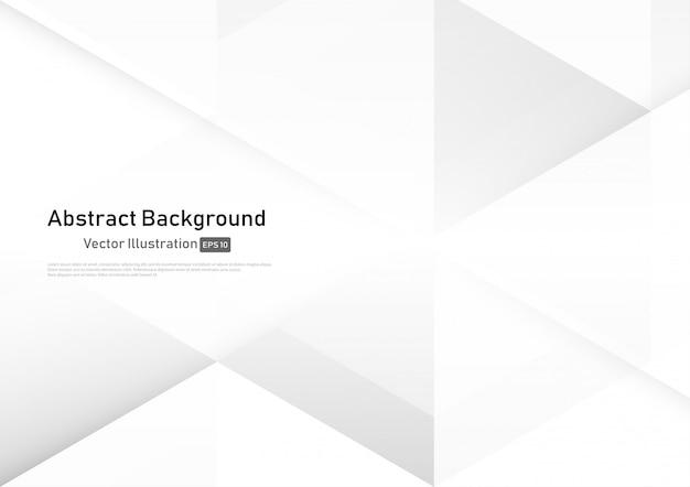Abstracte witte en grijze geometrische achtergrond.
